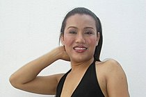 Asian Shemale Benz Posing In Black Dress
