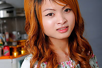 Cute Asian shemale Bar strips floral dress